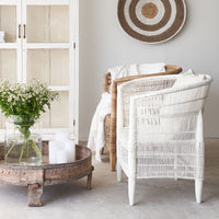 African Malawi Armchair | White - Originals Furniture