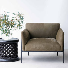 Leather Armchair | Scribe - Caqui