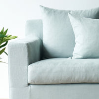 Fabric L-Shape Sofa | Beccy - Celadon