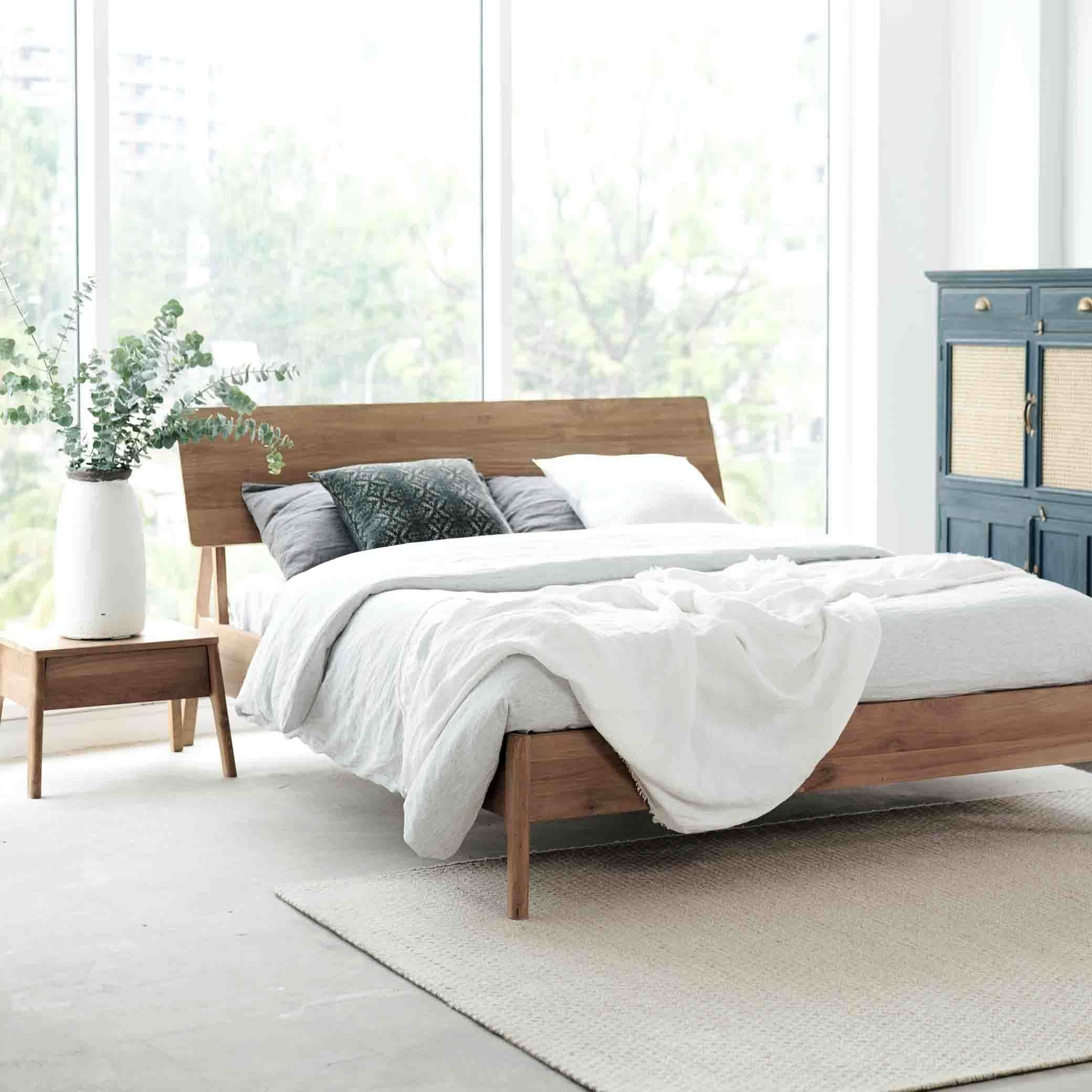 Teak Bed Frame | Air Bed