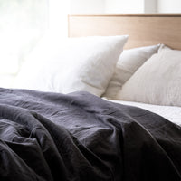 Linen Duvet Set | Black - Originals Furniture