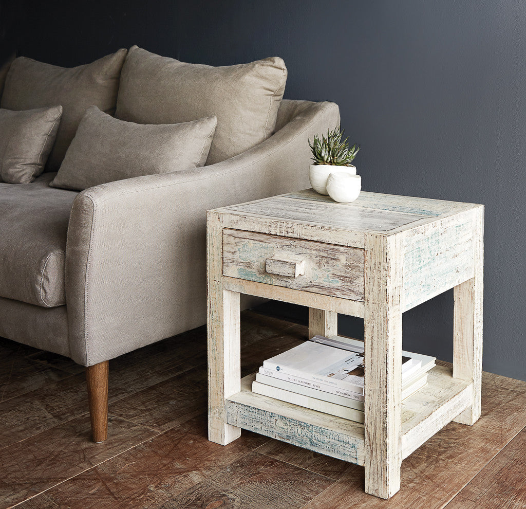 Frame Bedside Table | Short -1 Drawer-Nomad India-Originals Furniture - 3