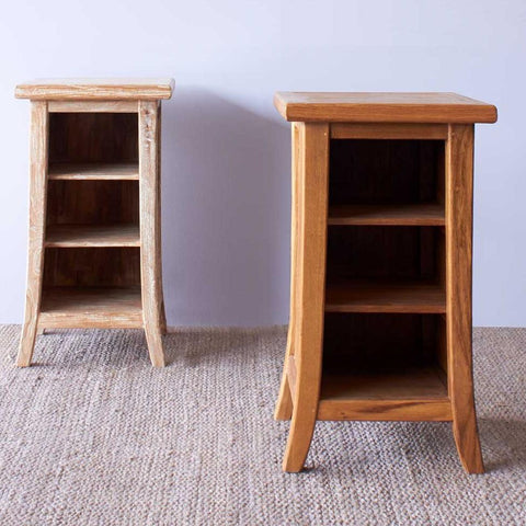 Teak Bedside Table | Tall