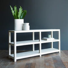 Ledge Open Shelf Console