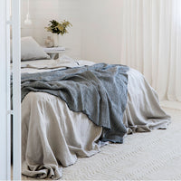 Linen Fitted Sheet Set | Smoke Grey - Originals Furniture