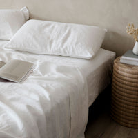 Linen Duvet Set | White - Originals Furniture