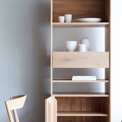 Oak Cupboard | Nordic - 1Door/1Drawer