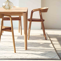 Oak Dining Chair | Inlay - Leather Canyon