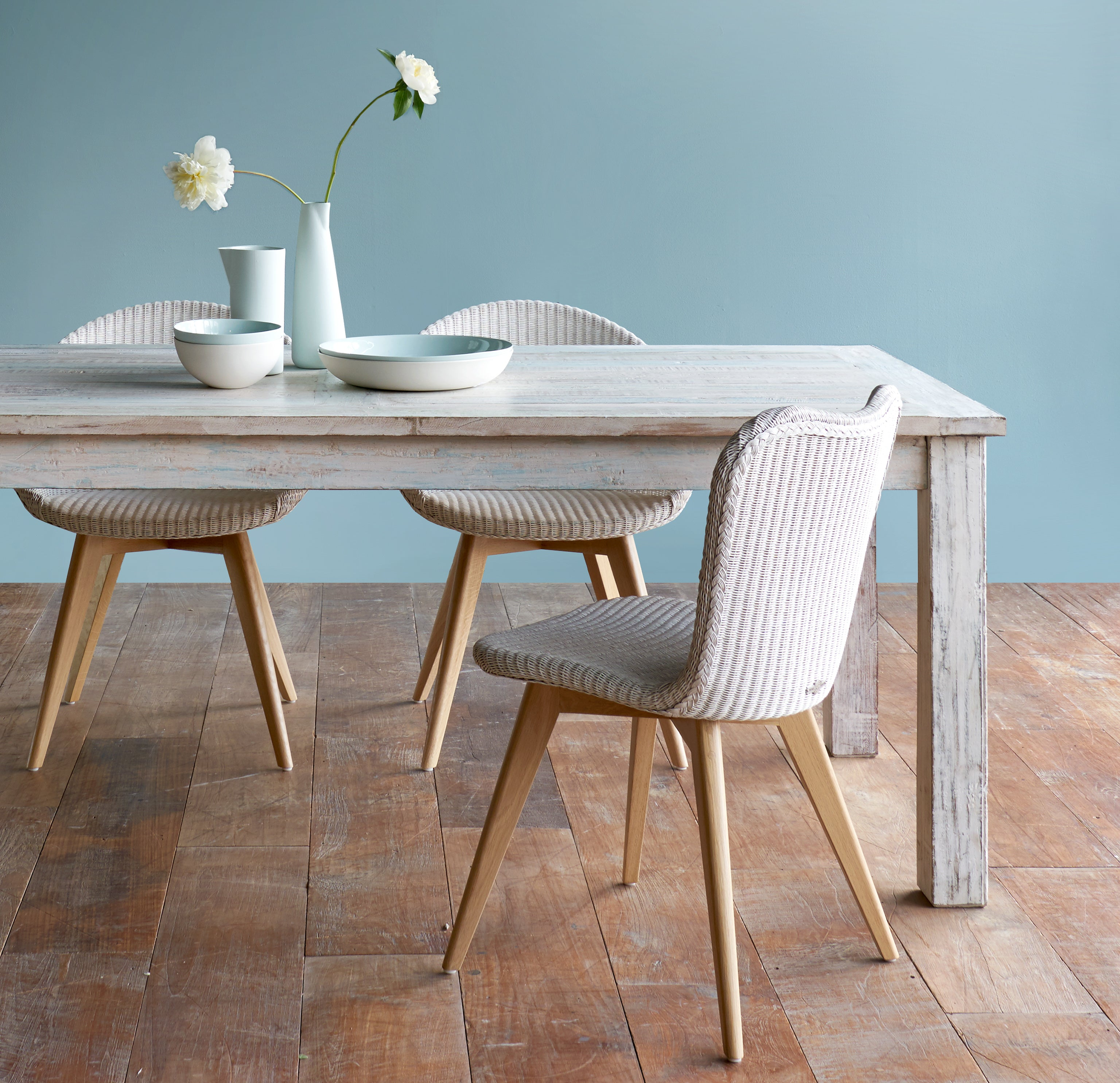 Dining Chair Teak | Jack - Pure White