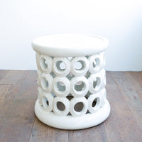 Side Table | Donut Ring Stool - White - Originals Furniture