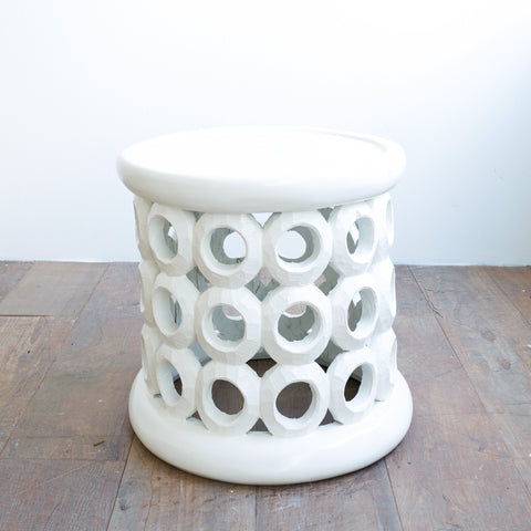 Donut Ring Stool | White