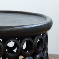 Side Table | Donut Ring Stool - Black - Originals Furniture
