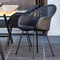 Outdoor Dining Chair | Edgard - Black