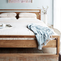 Teak Bed Frame | Light Frame Bed Singapore Size