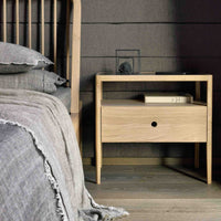 Oak Bedside Table | Spindle - Originals Furniture