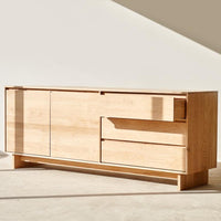 Oak Sideboard | Wave - 2 Doors / 3 Drawers