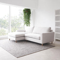 Fabric L-Shape Sofa | Ponte - Pearl - Originals Furniture