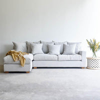 Fabric L-Shape Sofa | Beccy - Pearl