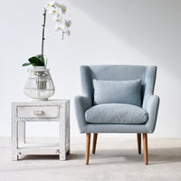 Fabric Armchair | Nelly - Ice Blue