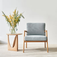 Fabric Armchair | Nysse - Ice Blue