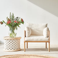 Armchair | Ingrid - Natural with Ivory Base