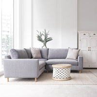 Fabric Corner Sofa | Ponte - Weathered Grey - Originals Furniture