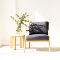 Leather Armchair | Nysse - Coal - Originals Furniture