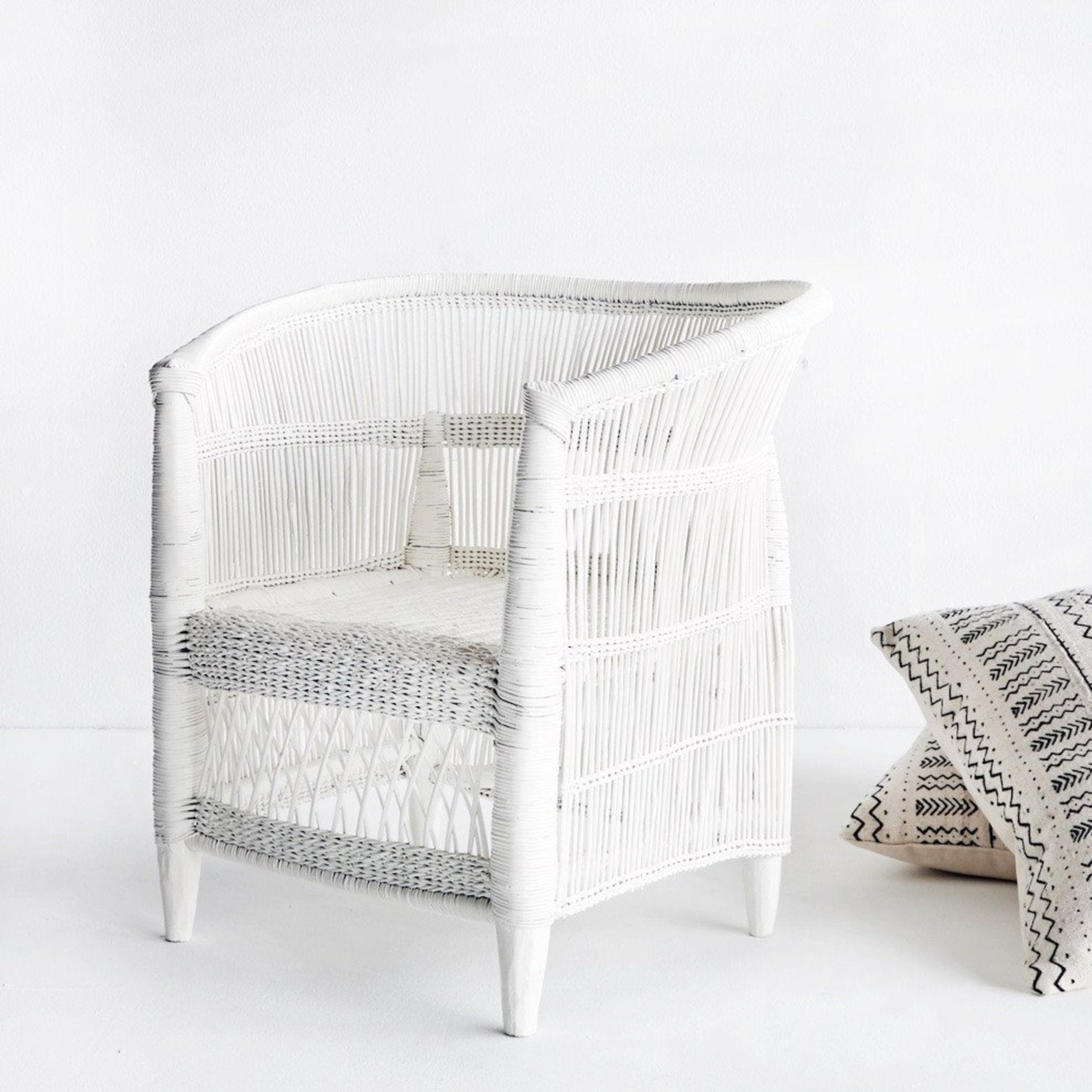 Malawi Kid's Armchair in White-Nomad Tribe-Originals Furniture - 2