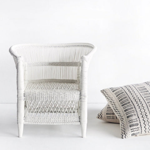 Malawi Kid's Armchair in White