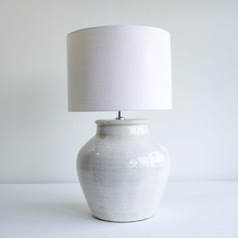 Kodovan White Ceramic Lamp