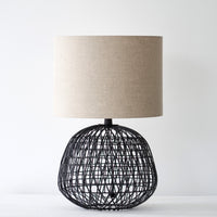 Metal Table Lamp $280 Linen Shade