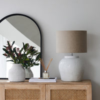 Ceramic Table Lamp $360 Linen Shade
