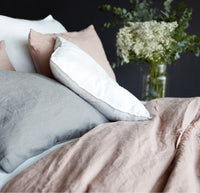 Linen Duvet Set | Blush - Originals Furniture