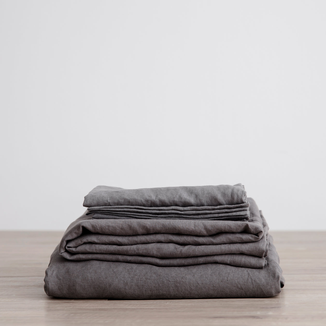 Linen Fitted Sheet Set | Charcoal_Grey