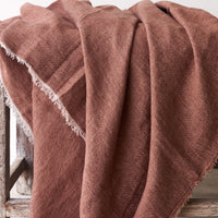 Throw VV Linen - Blush