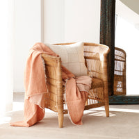 Throw VV Linen - Melon Pink