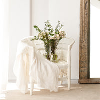 Throw VV Linen - White