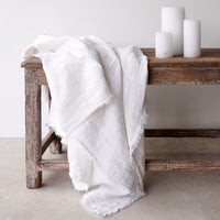 Throw VV Linen - White - Originals Furniture