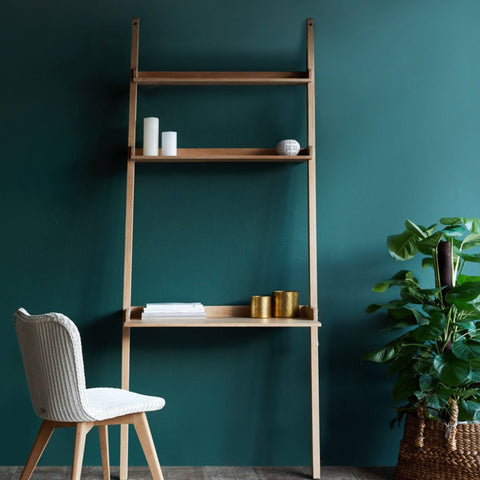 Wally Wall Desk, 2 shelves,