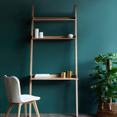 Wally Oak Shelf | Wall Desk, 2 shelves