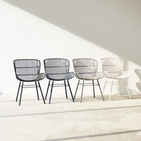 Outdoor Dining Chair | Rose - Grey