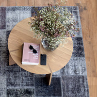 Patchwork Rug | Charcoal-Grey W303 x L200cm