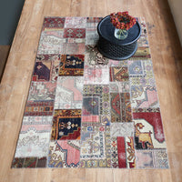 Patchwork Rug | Red W208 x L303cm