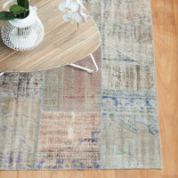Patchwork Rug | Rustic Green and Blue W210 x L292cm