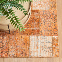 Patchwork Rug | Rustic Orange W143 x L276cm