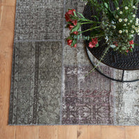 Patchwork Rug | Grey and Purple W248 x L327cm