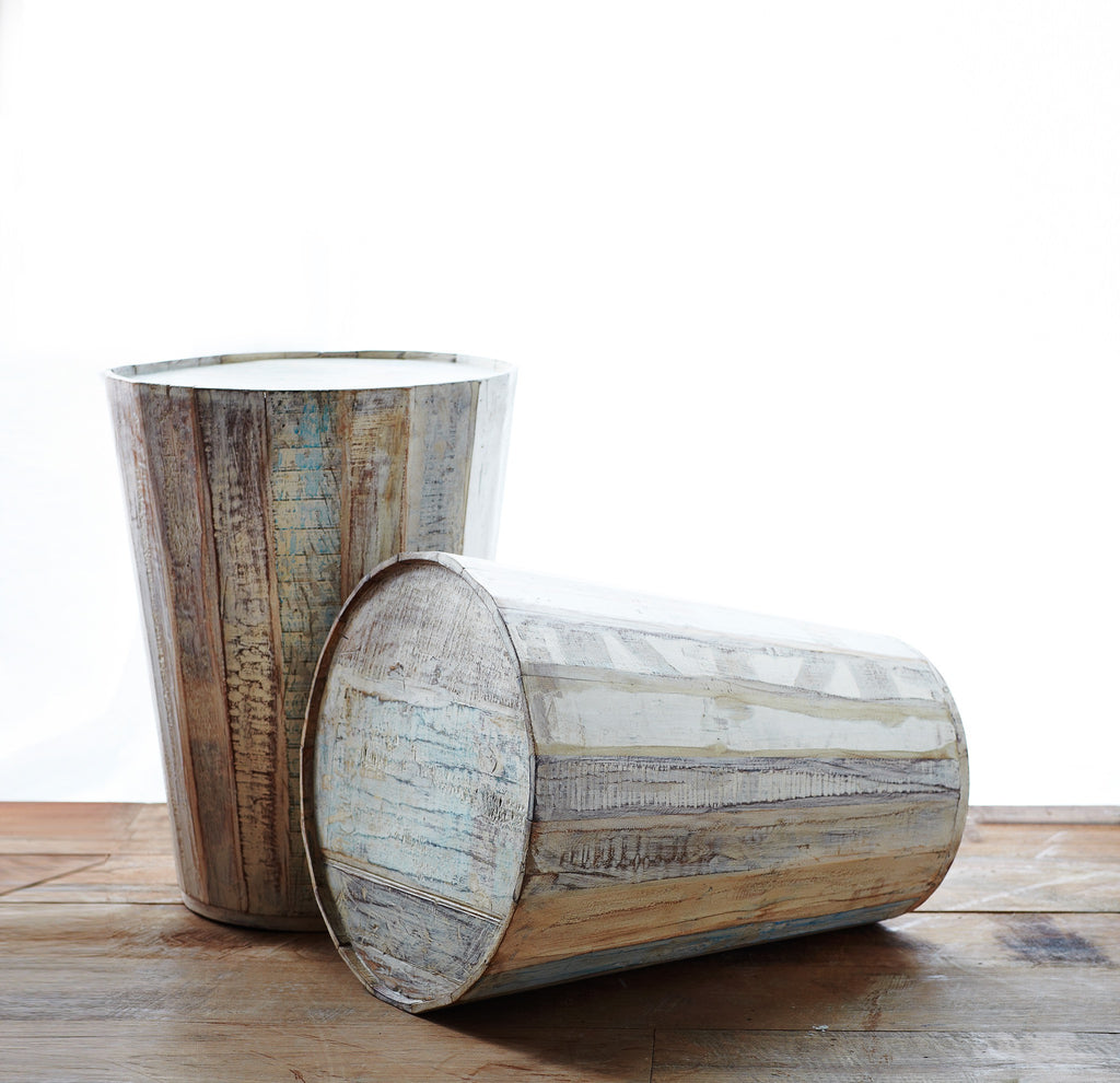 Wooden Side Table | Tanki Recycled