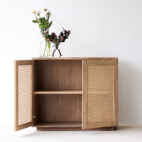 Teak Rattan Sideboard | Natural 2 Doors