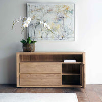 Oak Sideboard | Shadow 1 Door / 2 Drawers - Originals Furniture