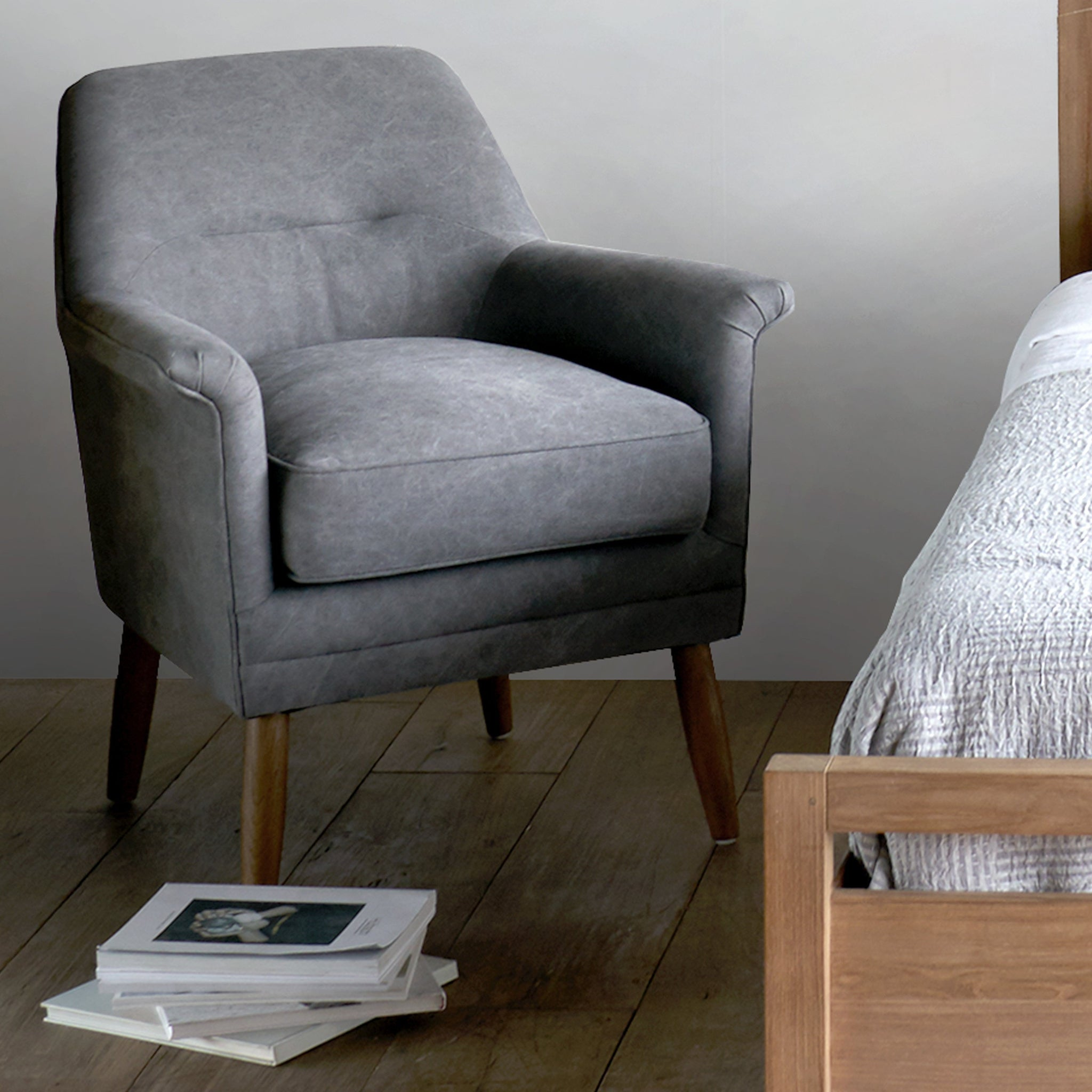 Incredible Fabric Armchair Perry Dark Grey Dailytribune Chair Design For Home Dailytribuneorg
